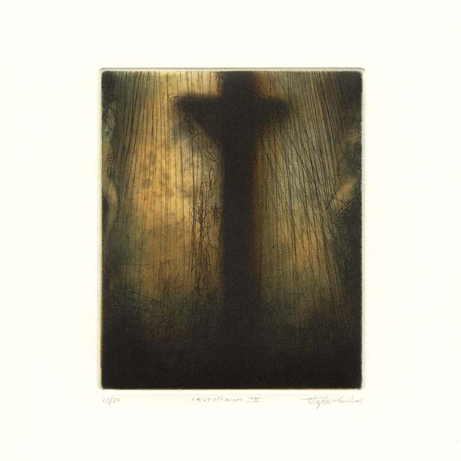 Stephen Lawlor, 9, Ireland, Crucifixion IV, Etching, 11 x 9 cm