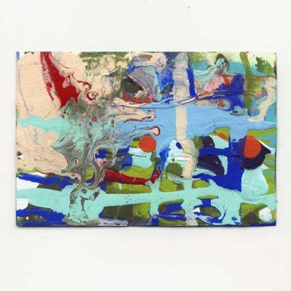 "Susan Harmon 2, USA, Abstract, 2018, Mixed Media, 4""x7"""