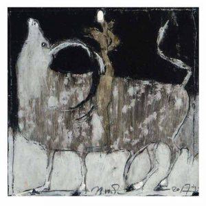 Valentina Shoba 1, Belarus, The Abduction, 2017, Mixed Technique, , 15 x 15 cm