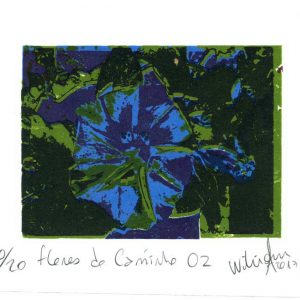 William A. 1, Brasil, Flores do Caminho 01, 2017, Serigraphy, 16 x 18 cm