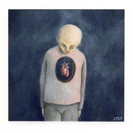 Wouter Tacq 2, Belgium, Beating, 2018, Aquarell, Acryl, 14 x 14 cm