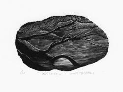 Takanori Iwase 20, Japan, Absence, 2017, Wood Engraving, 7 x 11,5 cm