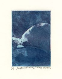 Takanori Iwase 6, Japan, Fragment of the Moonlight, 2011, Etching, 10 x 7 cm