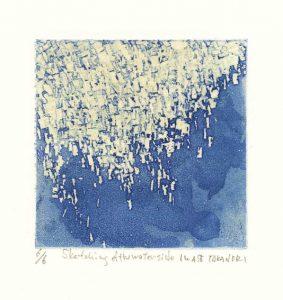 Takanori Iwase 9, Japan, Sketching of the Waterside, 2014, Etching, 10 x 10 cm