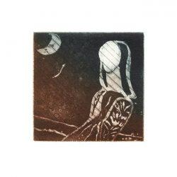 Ana Galvão 1, Portugal, Blue City, 2015, Copper etching, 10 x 10 cm, 45