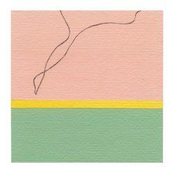 Malin Lenz 2, Singapore, Simplicity 2, 2018, Acryl and pencil on paper, 14 x 14 cm, 50