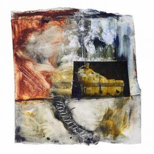 Patricia Pascazzi 1, Argentina, Eterna, 2017, Monocopia sobre cartón/chine collé, 17,5 x 18 cm, 80.