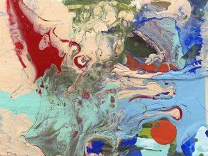"""Detail aus dem Bild """"Abstract"""" von Susan Harmon, USA"""