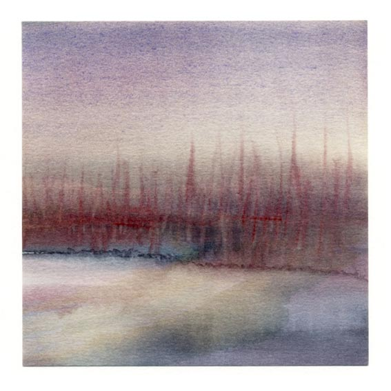 Amaryllis Siniossoglou 9, Greece, Flow I x , 2018, Watercolor, 13 x 13,55 cm