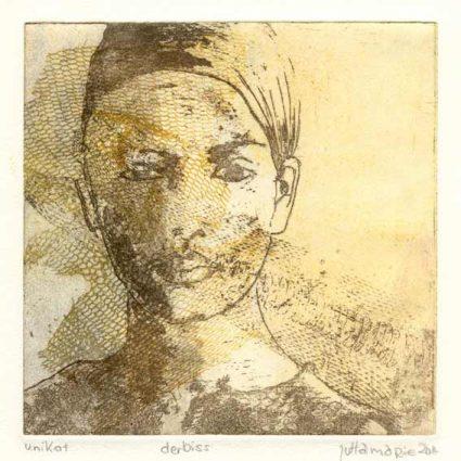 Juttamarie Fricke 9, Germany, Der Biss, 2014, Etching, 15 x 15 cm