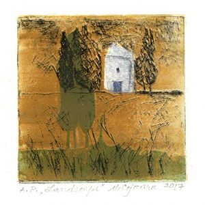 Miriam Cojocaru 5, Israel, Landscape, 2017, Etching & Collagraph, 18 x 18 cm. 50