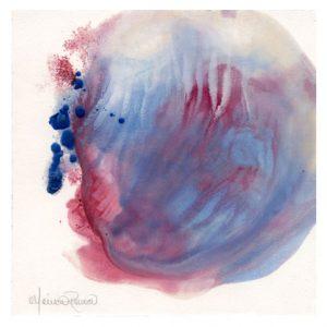 Monica Romero 2, México, The eye of the Storm, 2018, Encaustic, 15 x 15 cm.