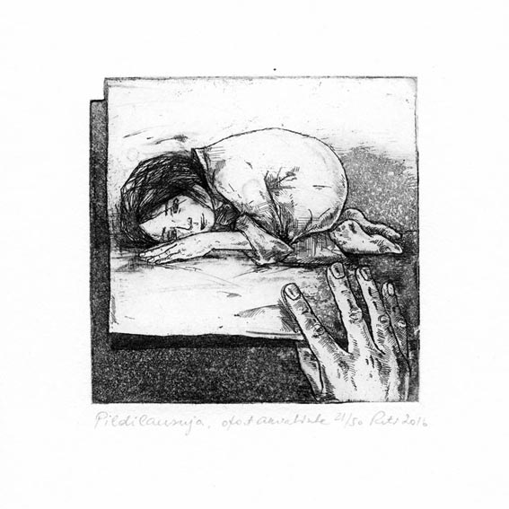 Reti Saks 2, Estonia, Print Whisperer, 2016, Etching, Aquatint 10 x 10 cm, 100