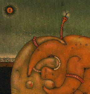"""Details aus dem Bild """"Apple"""" des ukrainischen Künstlers Roman Romanyshyn"""