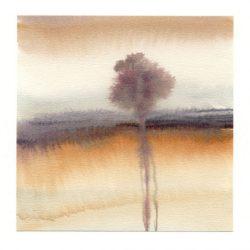 Amaryllis Siniossoglou 2, Greece, Flow II, 2018, Watercolor, 13 x 13,55