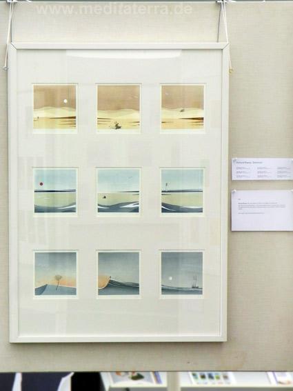 """Gerhard Rasser, Österreich: Neun kleinformatige Bilder in der Ausstellung """"16 mal Kunst"""" in Weißenthurm am Rhein"""
