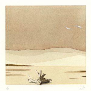 Gerhard Rasser 2, Austria, The Big Journey I-2, Mixed Media, 14 x 14 cm