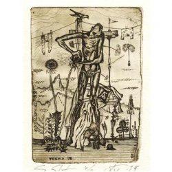 Alexander Gurevich 1, Israel, Sn. Sebastian, 2013, Etching, 13 x 9 cm