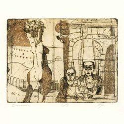 Alexander Gurevich 3, Susanna, 2004, Etching, 12 x 16 cm