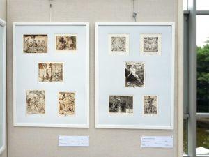 """Zehn kleinformatige Bilder in der Alexander Gurevitch, Israel: Ausstellung """"16 mal Kunst"""" in Weißenthurm am Rhein"""