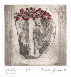 Dietrich Gürtler 2, Germany, Große Vase, 1989, Radierung, 10 x 9,8 cm, 20