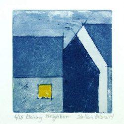 da-Marie Hellenes 1, Norway, Neighbor, 2009, Etching, 10 x 10 cm
