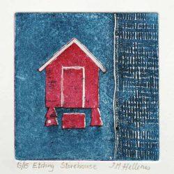 Ida-Marie Hellenes 9, Norway, Storehouse, 2013, Etching, 10 x 10 cm