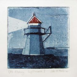 Ida-Marie Hellenes 6, Norway, Lighthouse I, 2014, Etching, 10 x 10 cm