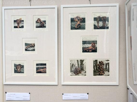 """Asuna Yamauchi, Japan: Zehn kleinformatige Bilder in der Ausstellung """"16 mal Kunst"""" in Weißenthurm am Rhein"""