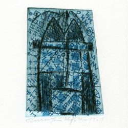 osée Wuyts + Frans de Groot 5, Netherlands, House Tower, 2011, Dry Point, Etching, 11 x 8 cm