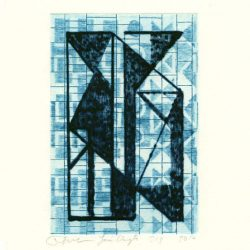 Josée Wuyts + Frans de Groot 4, Netherlands, Blue Icon, 2010, Dry Point, Etching, 15 x 10 cm