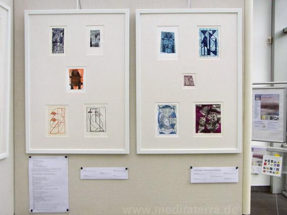 """Frans de Groot & Josee Wuyts: Zehn kleinformatige Bilder in der Ausstellung """"16 mal Kunst"""" in Weißenthurm am Rhein"""