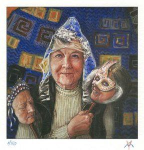 Yvonne Welman 4, The Netherlands, Cliché 3: Selfies, 2017, Painting, Digital Print, 14 x 14 cm, 50