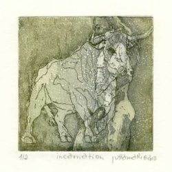 Juttamarie Fricke 4, Germany, Incarnation, 2013, Etching, 10 x 10 cm