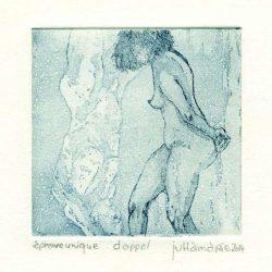 Juttamarie Fricke 6, Germany, Doppel, 2014, Etching, 10 x 10 cm
