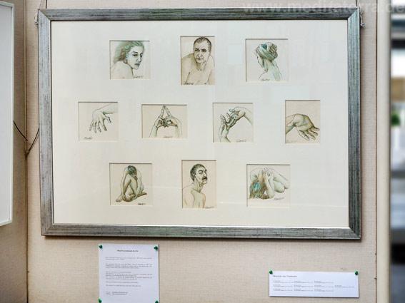 """Maud de Jeu, Frankreich: Zehn kleinformatige Bilder in der Ausstellung """"16 mal Kunst"""" in Weißenthurm am Rhein"""