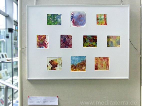 """Monica Romero, Mexiko: Zehn kleinformatige Bilder in der Ausstellung """"16 mal Kunst"""" in Weißenthurm am Rhein"""