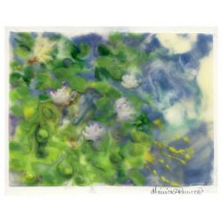 Monica Romero 9, México, Water lilys, 2018, Encaustc, 11,2 x 14,7 cm
