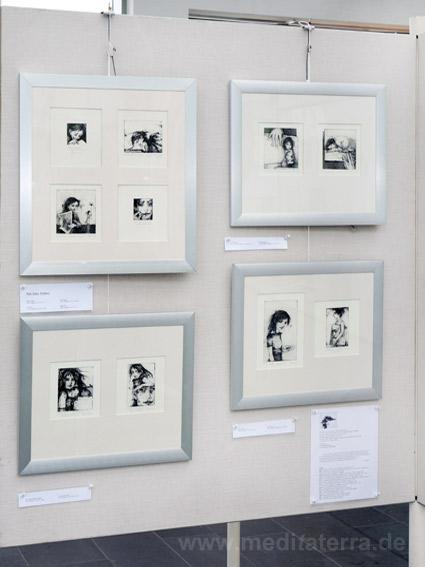 """Reti Saks, Estland: Zehn kleinformatige Bilder in der Ausstellung """"16 mal Kunst"""" in Weißenthurm am Rhein"""