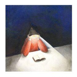 Wouter Tacq 10, Belgium, Illumination, 2018, Aquarell & Acryl, 15 x 15 cm