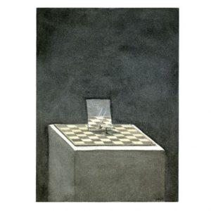Wouter Tacq 4, Belgium, Reflections on Identity – Pawn, 2017, Aquarell & Acryl, 11 x 15 cm