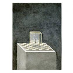 Wouter Tacq 9, Belgium, Reflections on Identity – King, 2017, Aquarell & Acryl, 11 x 15 cm