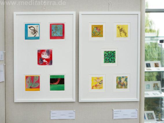 """Hee Sook Kim, USA: Zehn kleinformatige Bilder in der Ausstellung """"16 mal Kunst"""" in Weißenthurm am Rhein"""
