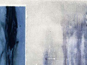 """Detail aus dem Bild """"Blue Forst"""" der finnischen Künstlerin Sirpa Häkli"""