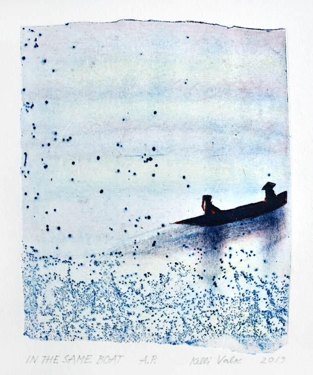 Kelli Valk11, Estonia, In The Same Boat, 2019, Artists T. 14 x 11,5 cm