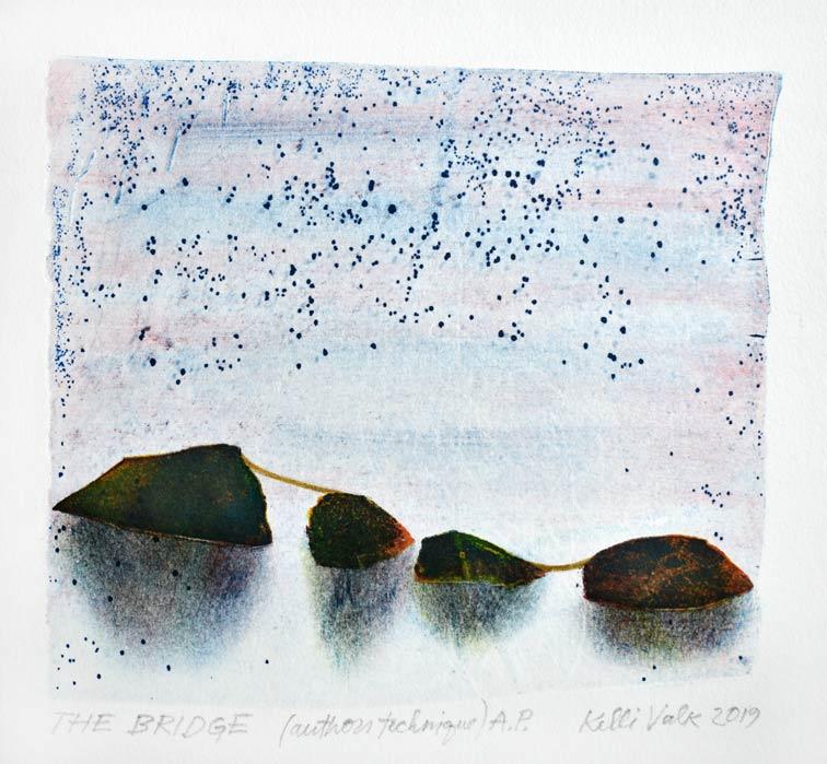 Kelli Valk13, Estonia, The Bridge, 2019. Artists Technique, 13 x 14 cm