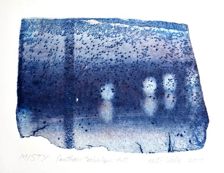 Kelli Valk15, Estonia, Misty, 2019, Artists Technique, 10 x 13,5 cm