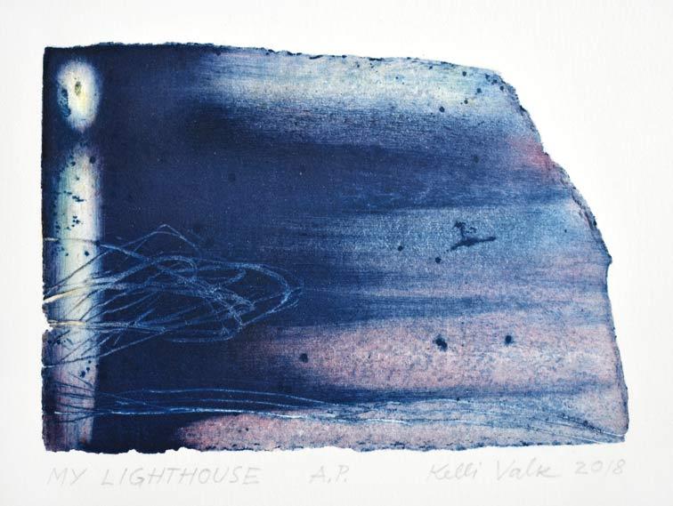 Kelli Valk 2, Estonia, My Lighthouse 2018, Artists Technique, 10,5 x 14 cm