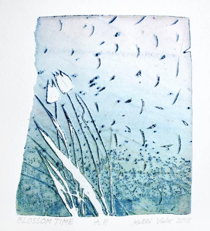 Kelli Valk,7, Estonia, Blossom Time, 2018, Artists Technique, 13,5 x 12 cm