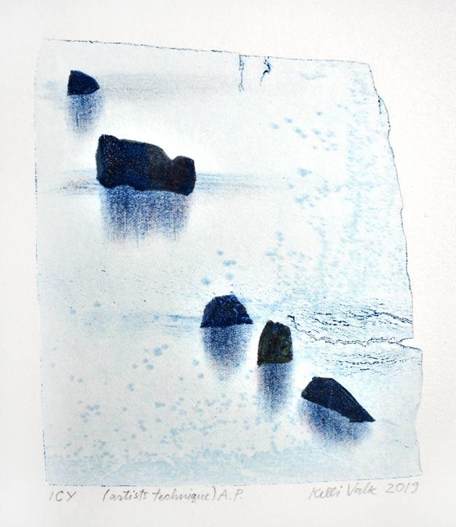 Kelli Valk 9, Estonia, Icy, 2019, Artists Technique, 15 x 12 cm